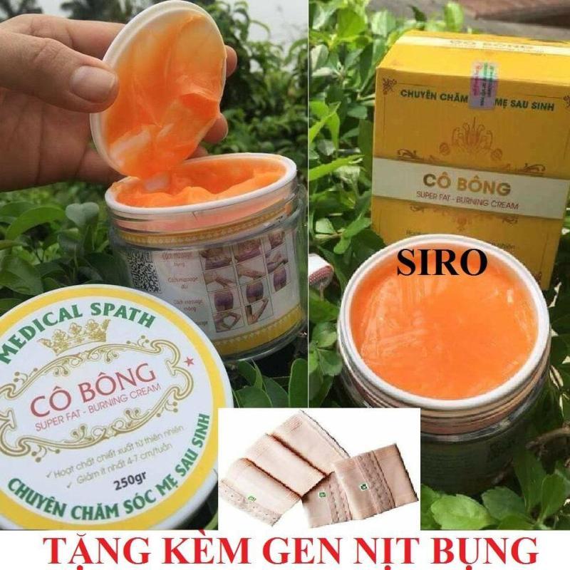 Bộ 2 kem tan mỡ Cô Bông (250g) + Tặng kèm 1 gen nịt bụng nhập khẩu