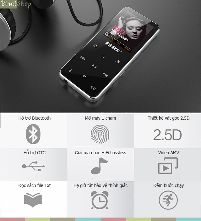 Máy nghe nhạc thể thao Bluetooth, HiFi