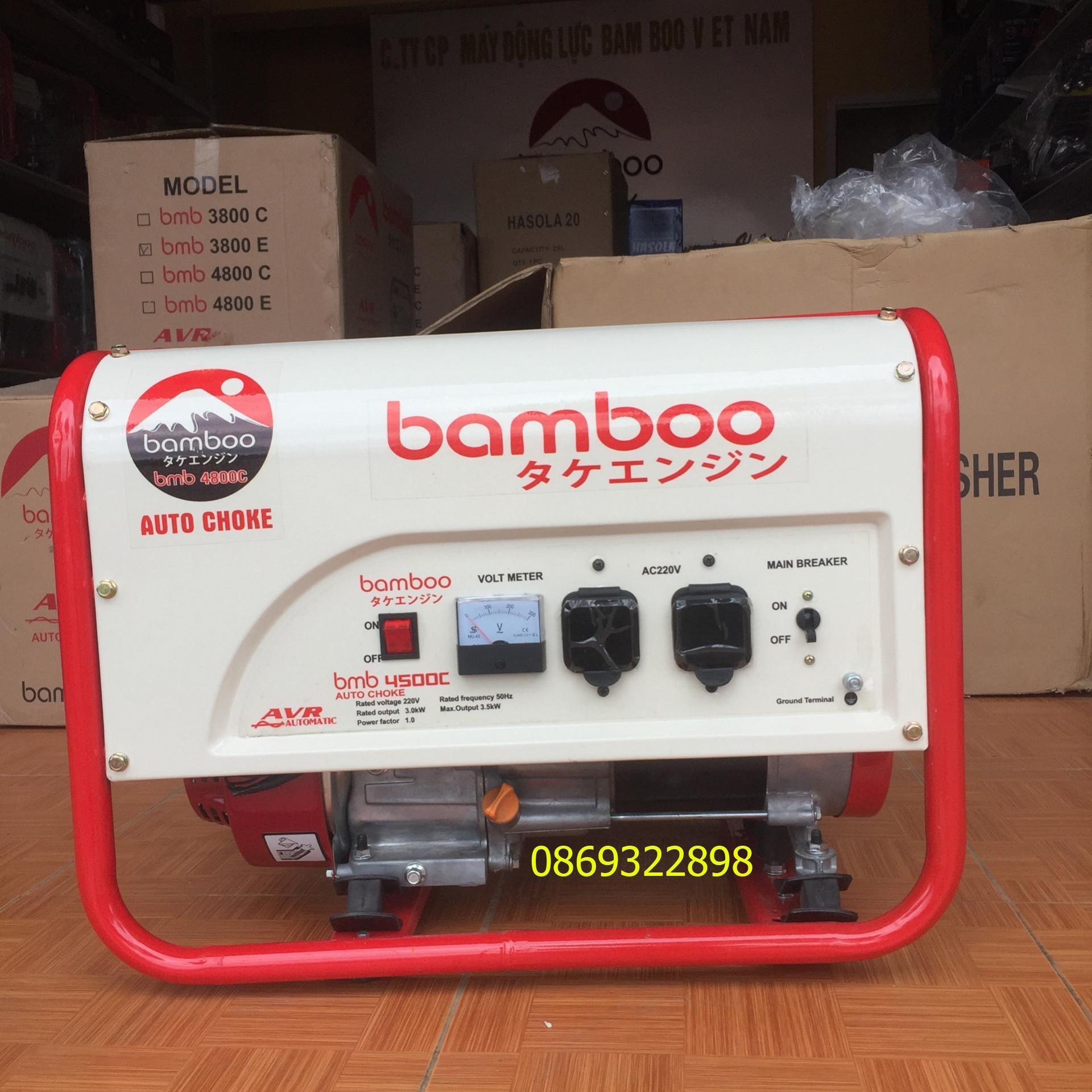 Máy phát điện bamboo 4800C 3.5kw chạy xăng giật tay