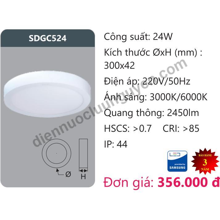Mua Đen Led Panel 24W Duhal Sdgc524 Rẻ Trong Hồ Chí Minh