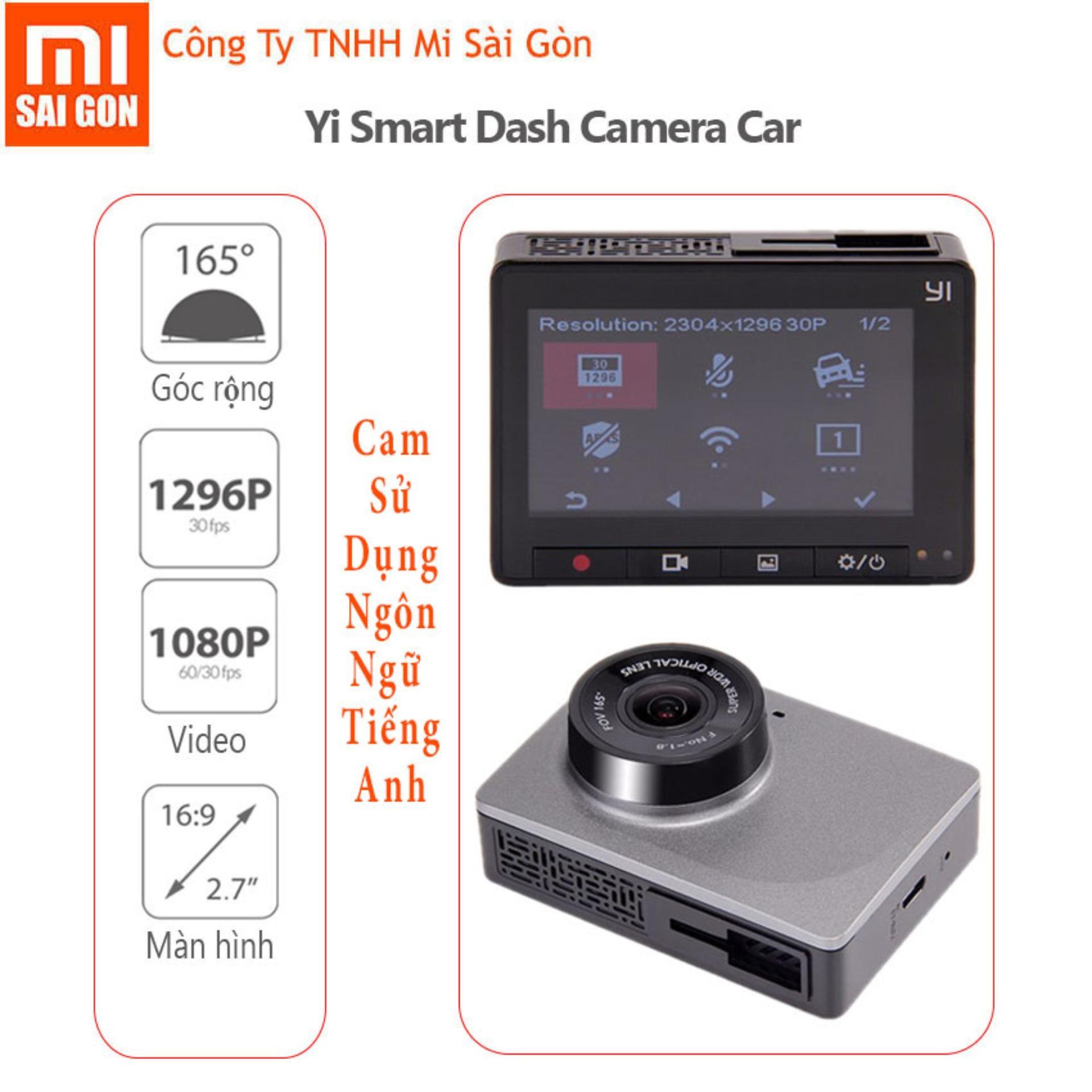 Giá Bán Camera Hanh Trinh Xe Hơi O To Xiaomi Yi Smart Car Dvr 1080P Xiaomi Mới