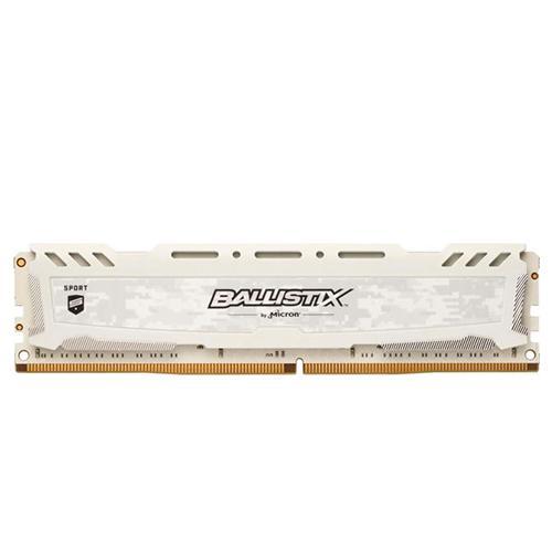Hình ảnh Ram DDR4 Crucial 8GB/2400 tản nhiệt trắng