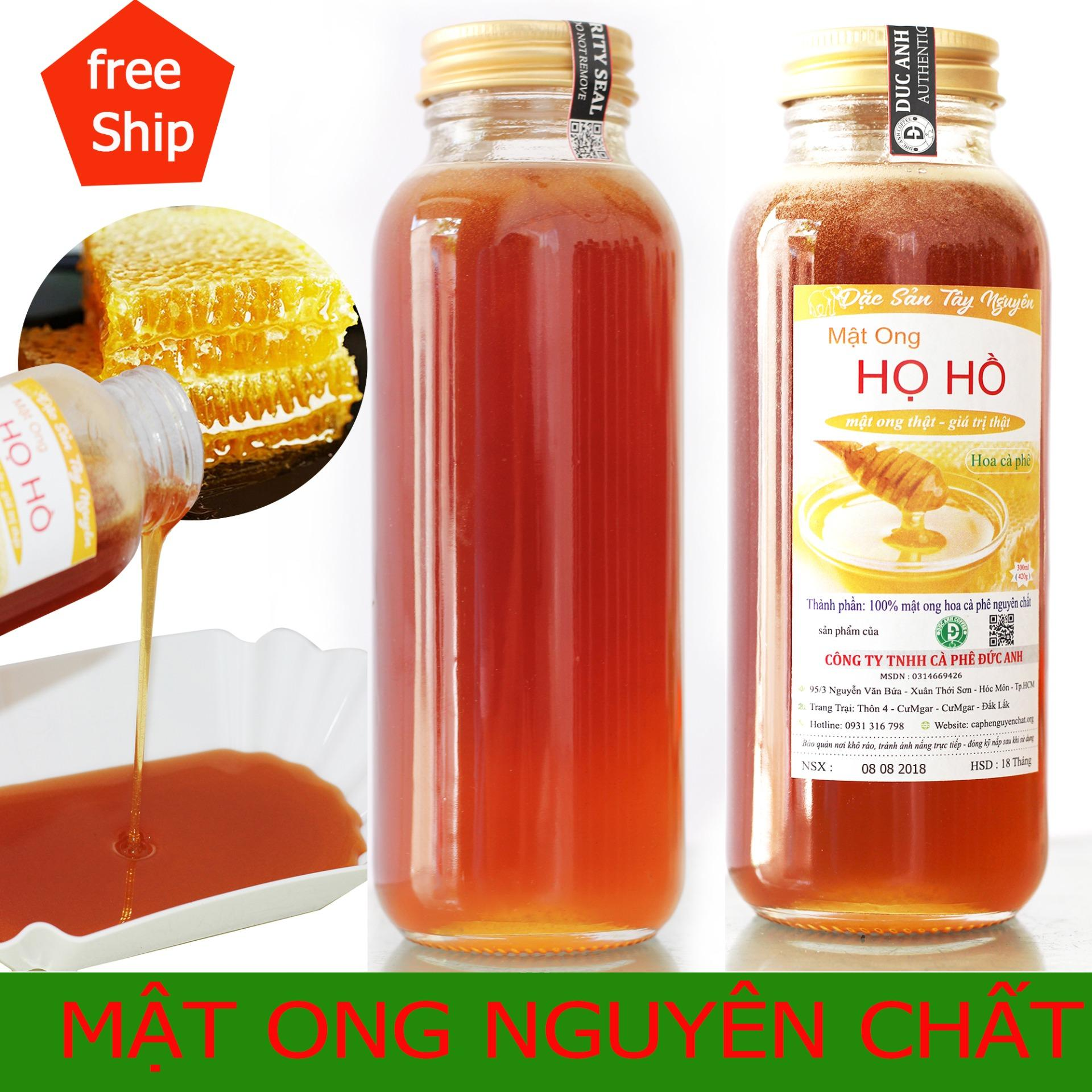 Hình ảnh 2 hũ thủy tinh mật ong cafe nguyên chất 840gr (600ml) - mật thật giá trị thật - sản phẩm của CÔNG TY TNHH CÀ PHÊ ĐỨC ANH - cam kết đổi trả nếu không vừa ý)