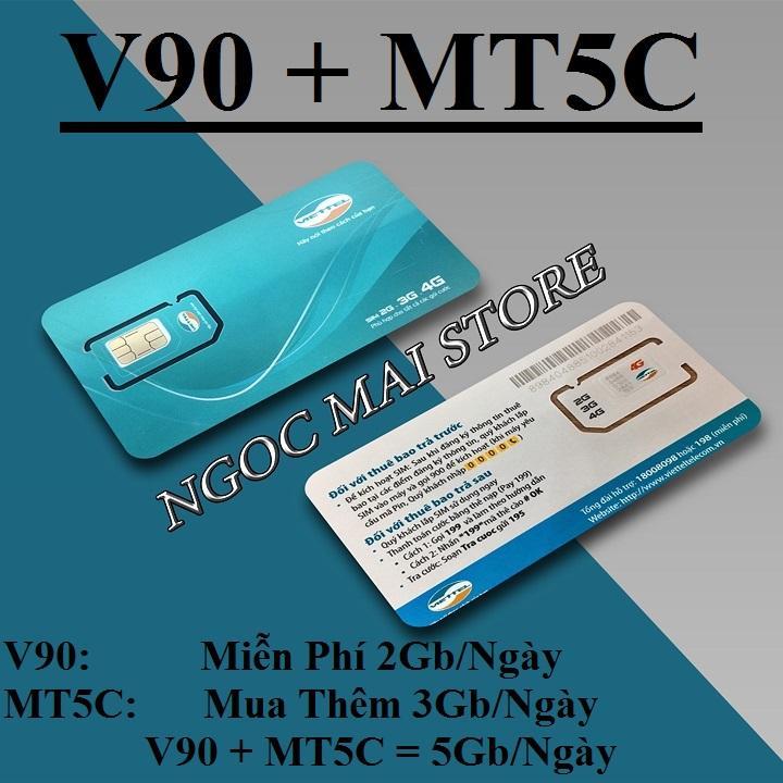 Bán Sim 3G 4G Viettel V90 Km 60Gb Thang Gọi Miễn Phi Sim Viettel Nguyên