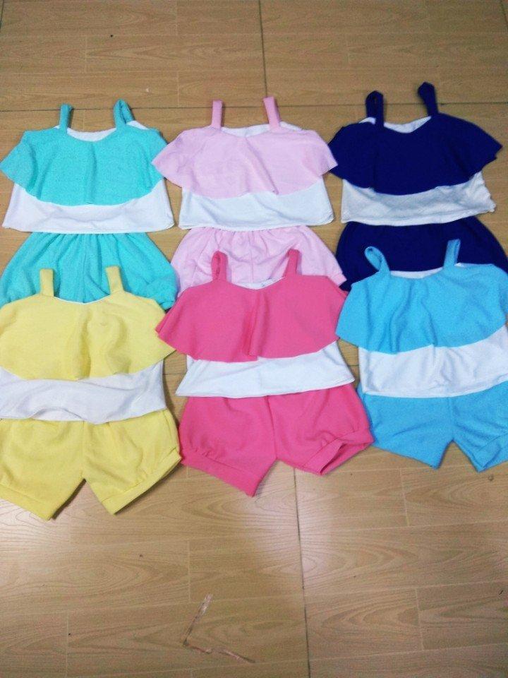 Bộ quần áo 2 lớp mùa hè cho bé 12-14kg