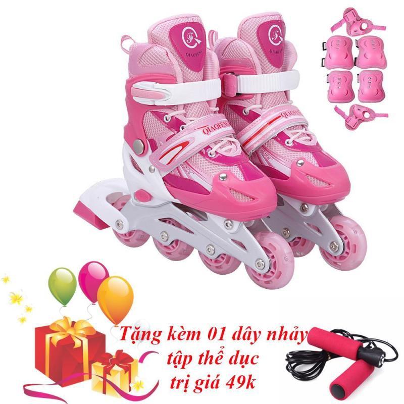 Phân phối Giày Trượt Patin Gắn Đinh Phát Sáng Bánh & Đồ Bảo Hộ ( SIZE L ) - VIVA SPORT  (TẶNG 1 DÂY NHẢY)