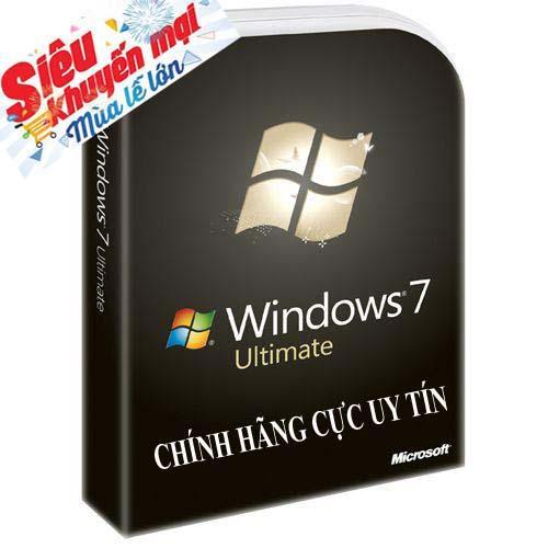 Hình ảnh Hệ điều hành bản quyền windows 7 ultimate 32/64 bit trọn đời theo máy cực uy tín