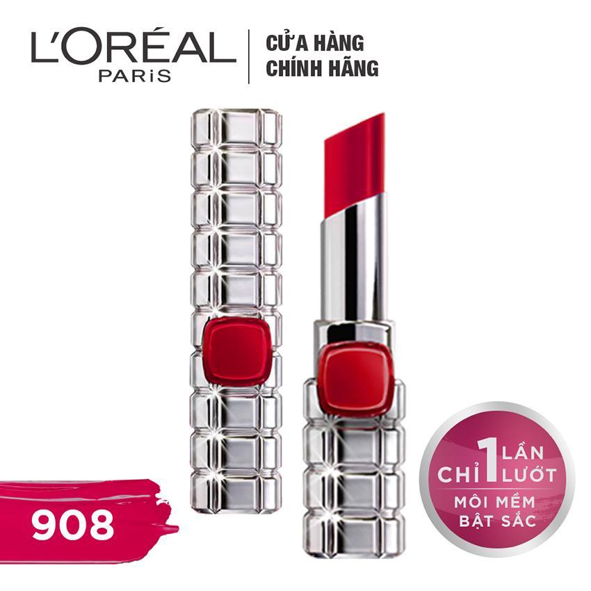 Son Mau Dưỡng Moi L Oreal Paris Color Riche Shine On 908 Rouge Haussmann L Oreal Paris Chiết Khấu 50