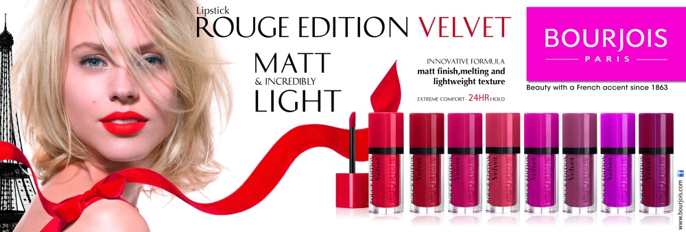Image result for Bourjois Rouge Edition Velvet banner