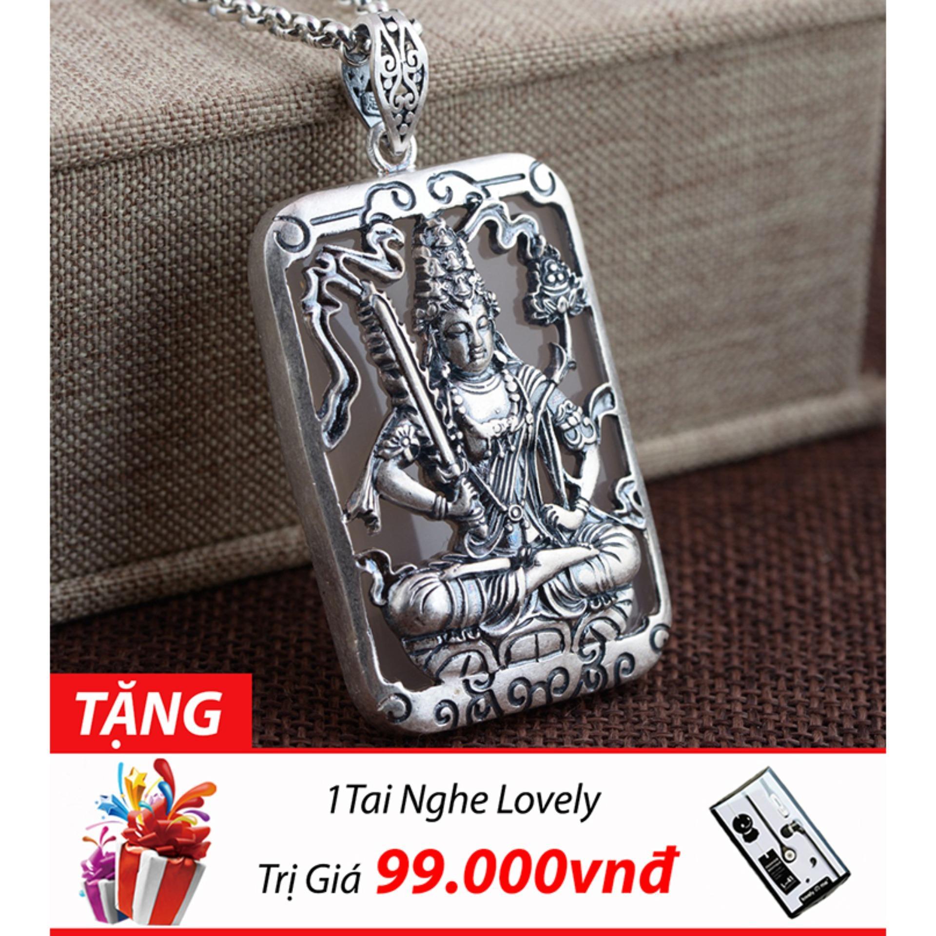 Mua Mặt Day Chuyền Bạc Nam Phật Hư Khong Tạng Bồ Tat Chất Liệu Bạc Thai Cao Cấp Thương Hiệu Ganes Silver Bạc Mới
