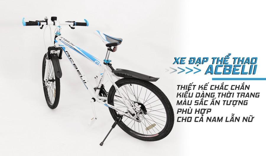Xe đạp thể thao ACBELII trắng xanh