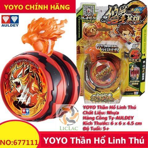 Hình ảnh Yoyo Thần Hổ Linh Thú Auldey - Yoyo Quyết Đấu Yo Kwon Do Tự Thu Dây ( Màu Đỏ )