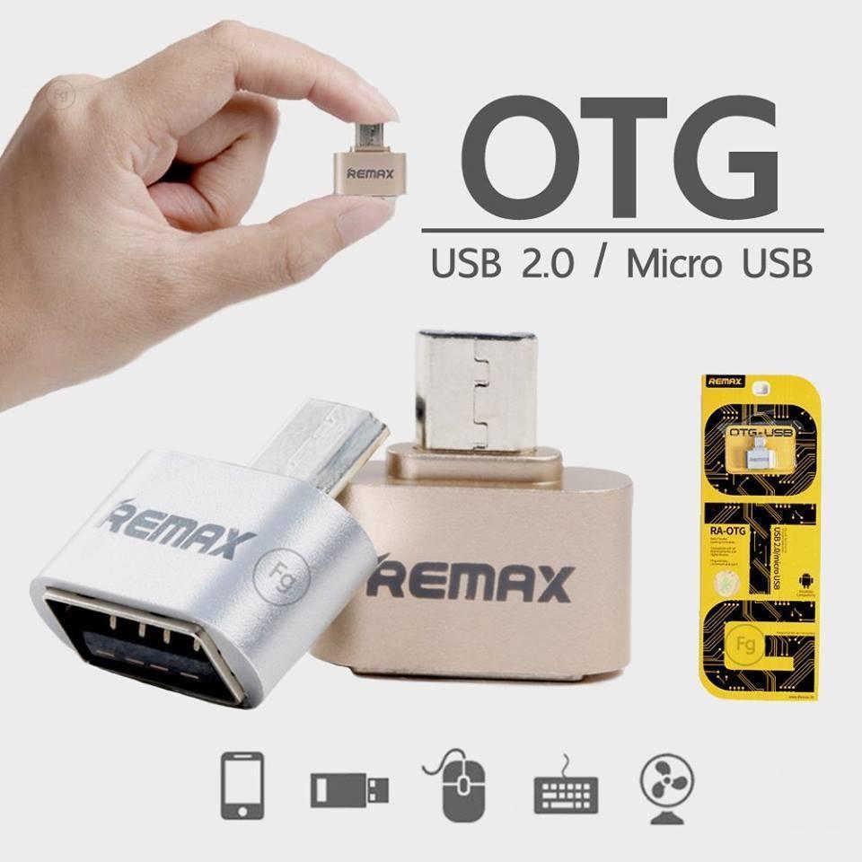 Hình ảnh Đầu chuyển đổi USB OTG Remax RA-OTG - 2 cổng micro USB và USB 2.0 (Bạc)