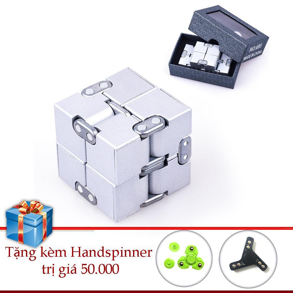 Hình ảnh Infinity Cube NHÔM Khối Quay Lập Phương Tặng Hand Spinner Legaxi