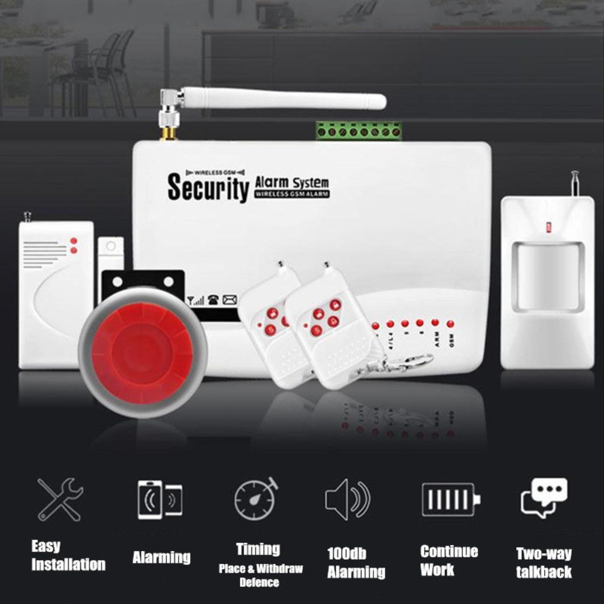 Bộ Thiết Bị Báo Động Chống Trộm Dùng SIM GUARDSMAN GS-3500 Hỗ Trợ 2 Băng Tần Kết Nối Rộng