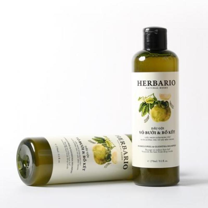 Dầu gội vỏ bưởi và bồ kết HERBARIO dưỡng tóc, giảm rụng, phục hồi hư tổn 270m nhập khẩu