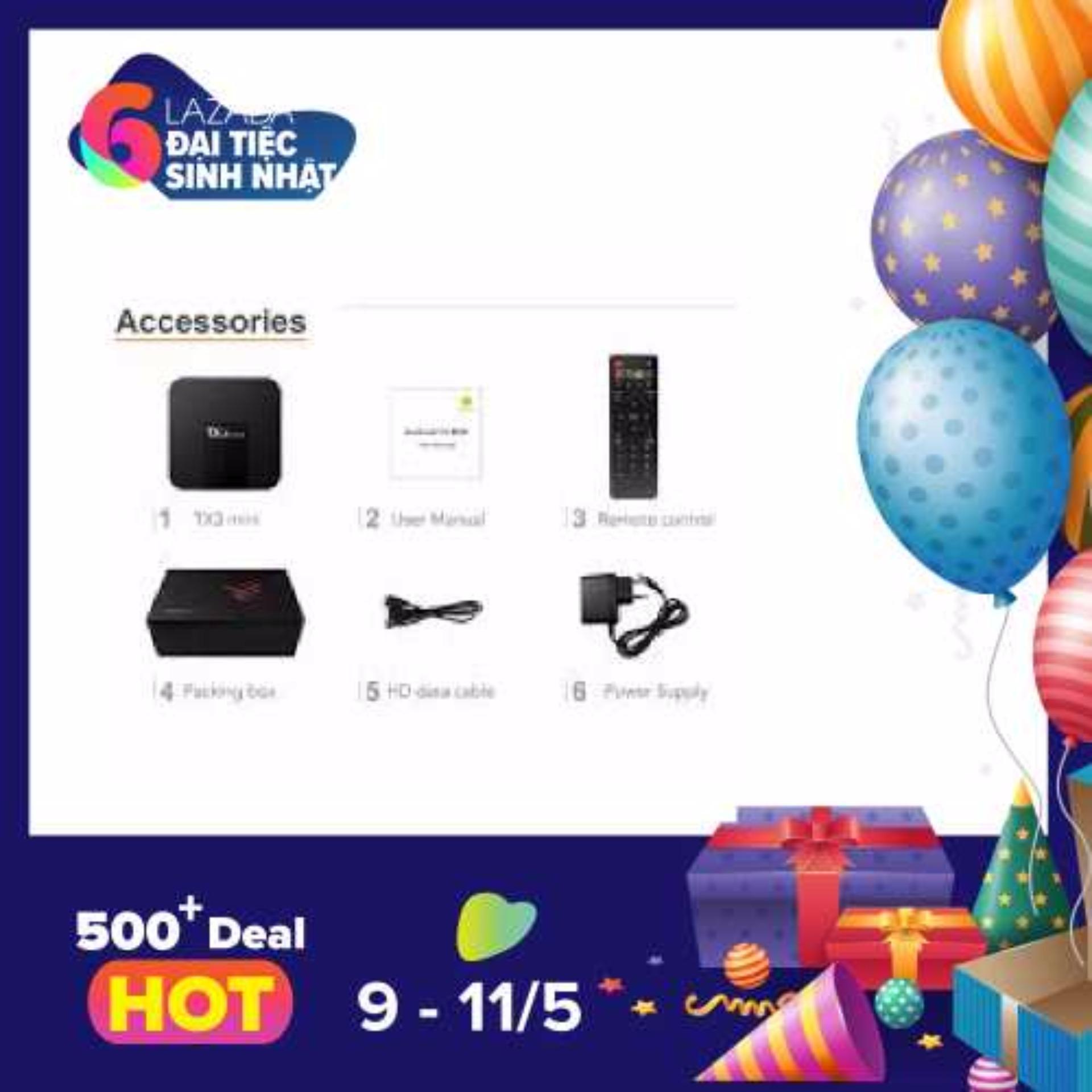 Hình ảnh Androi Tivi Box TX3 - RAM 2G/16G-S905 TV Box Android 7.1 Support 4K x 2K WiFi