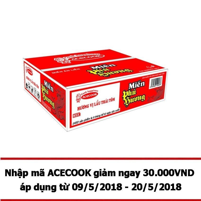 Thùng 24 gói miến Phú Hương vị lẩu thái 63g