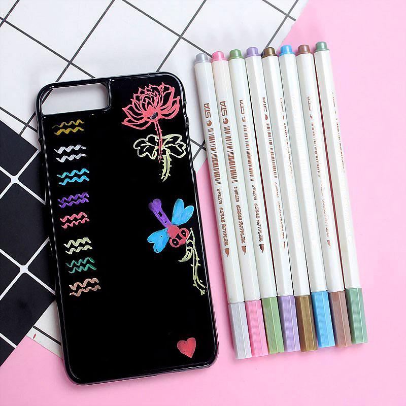 Mua Bộ 10 cây Bút nhũ vẽ trên Ốp lưng, Trang trí Album ảnh, Scrapbook