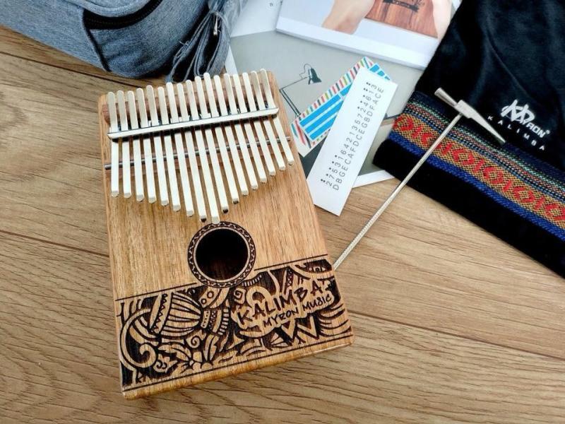 17 Keys Mbira Kalimba Thumb Piano Solid Finger Piano Mahogany Body