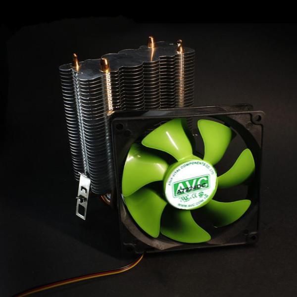 Bảng giá Bộ tản nhiệt AVC 2 ống đồng tương thích nhiều socket Intel/AMD quạt 9cm siêu bền và êm ái Phong Vũ