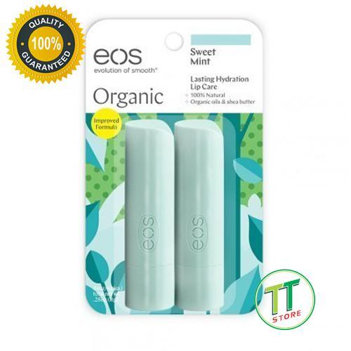 Bán Son Dưỡng Moi Eos Lip Balm Sweet Mint Usda Organic Set 2 Của Mỹ Eos Nguyên