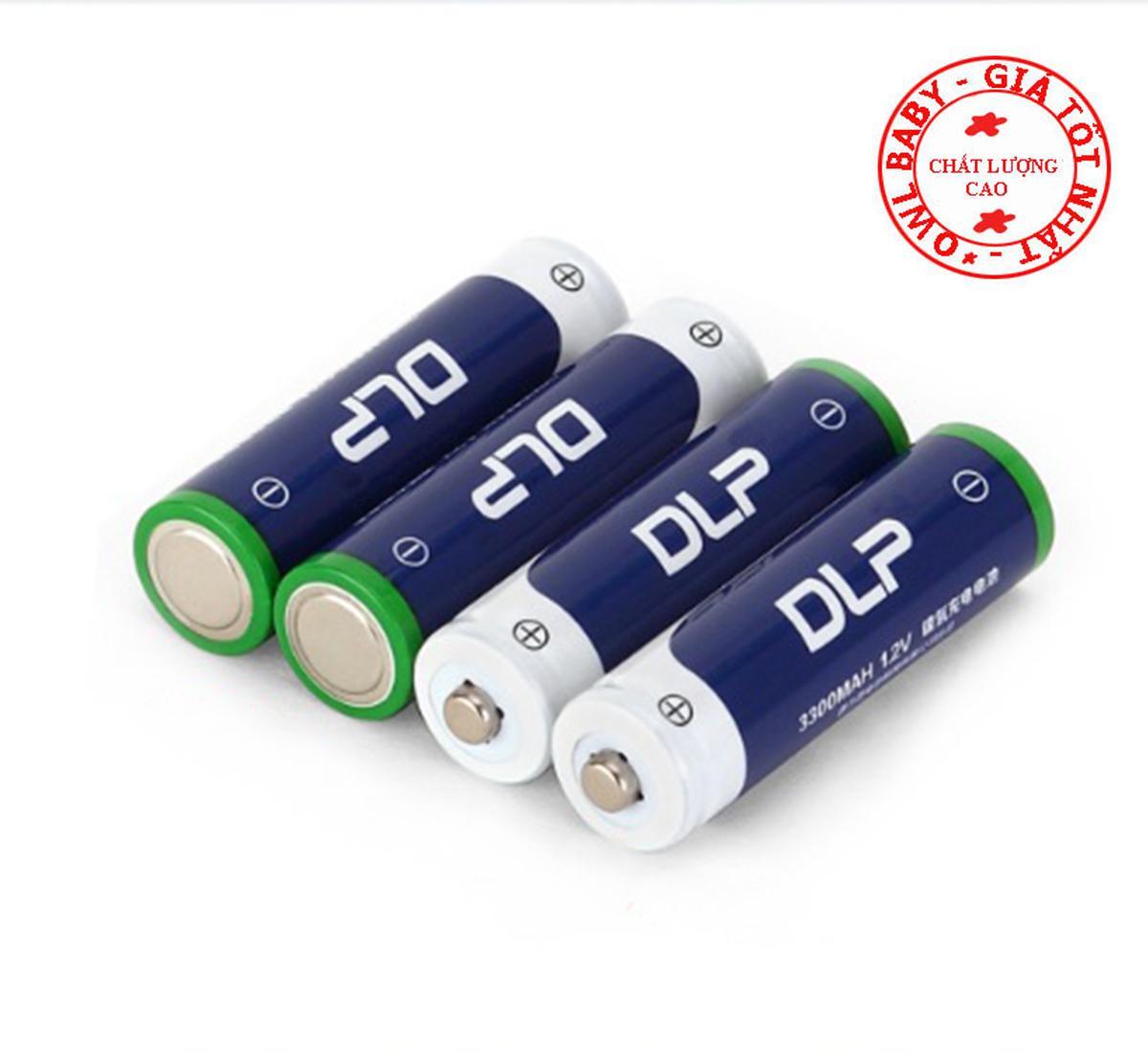 Giá Bán Bộ 4 Pin Tiểu Sạc Delipow Aa Ni Mh 3300Mah Cho May Ảnh O To Điều Khiển Micro Nhãn Hiệu Delipow