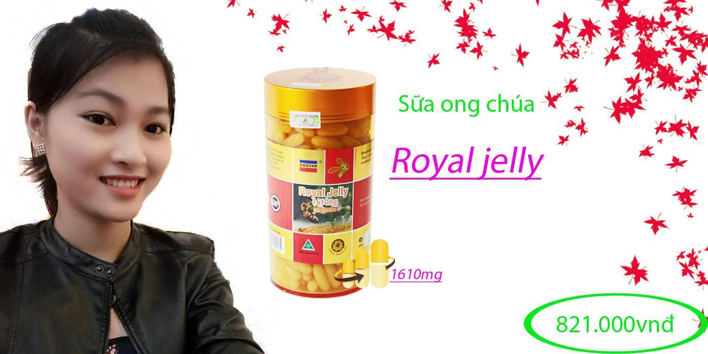 Sữa ong chúa Royal Jelly 1610mg 6% 10 HDA Úc (365 viên)