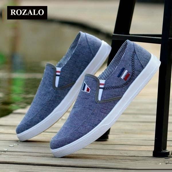 Giày lười vải nam ROZALO RM5414GR-Xám