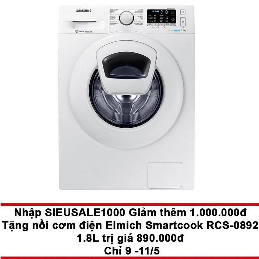 Cửa Hàng May Giặt Cửa Trước Samsung Addwash Ww75K5210Yw Sv 7 5Kg Samsung Trực Tuyến