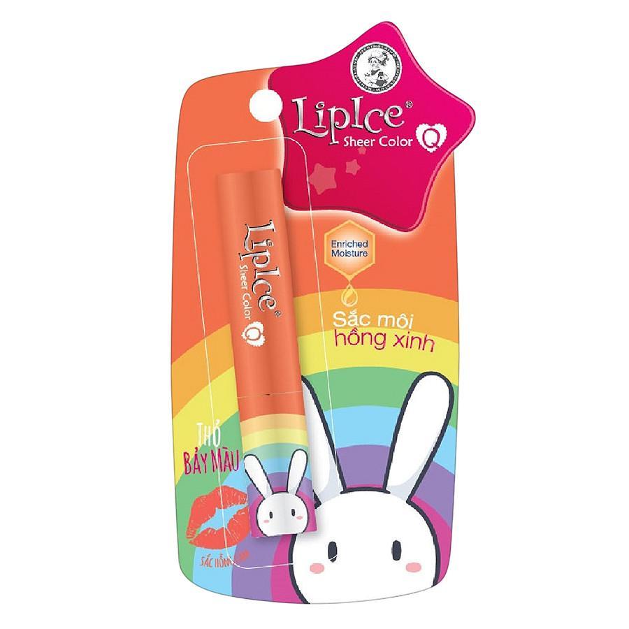 Hình ảnh Son Dưỡng Có Màu Lipice Sheer Color Q Bestie Thỏ Bảy Màu (Màu Hồng Cam) 2.4G
