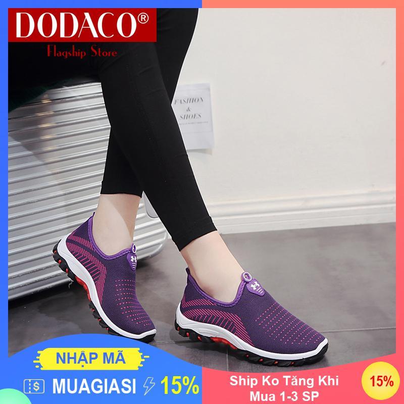 Hình ảnh [Ship Ko Tăng Khi Mua 1-3 SP] - Giày lười nữ DODACO DDC2025 (Đen Đỏ Tím Xám)
