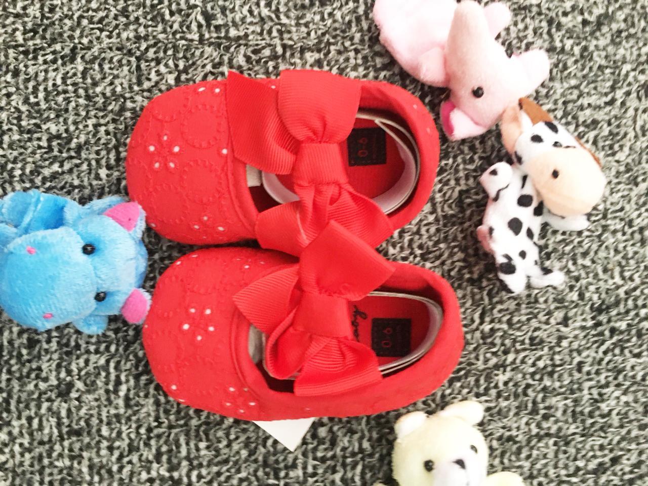 Giá bán Giày vải bé gái (6-02)màu đỏ sang chảnh phong cách CupShop