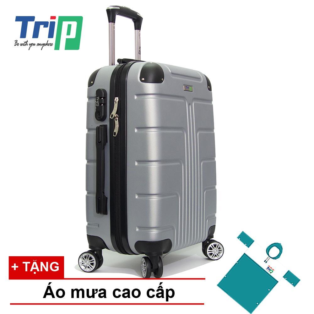 Ôn Tập Trên Vali Trip P701 Size 60Cm 24Inch Mau Bạc