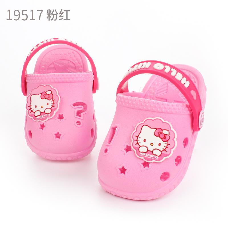 Hello Kitty Summer Children Sandals Girls Cute Baby Childrens Soft Bottom Anti-Slip Porous Female Princess Shoes For Baby By Taobao Collection.