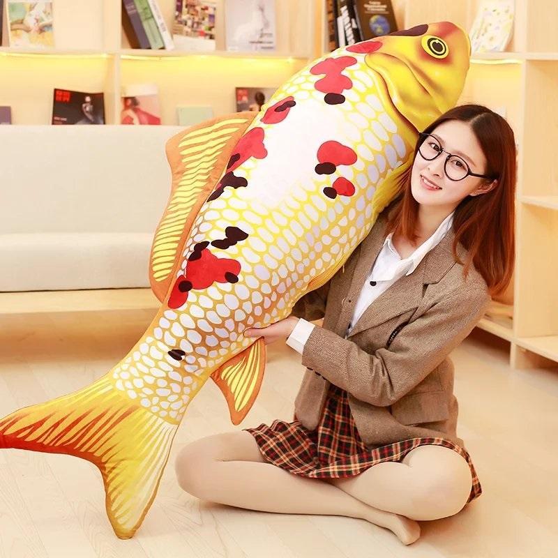 Hình ảnh Gấu bông hình cá chép 90cm