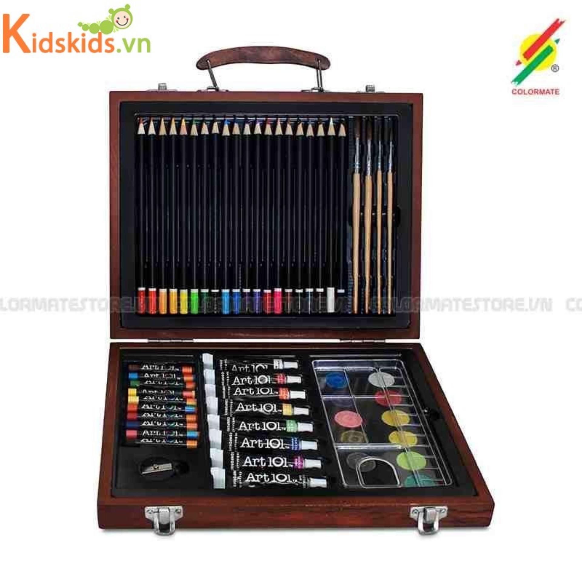 Hình ảnh Bút màu hộp gỗ M 58 Colormate