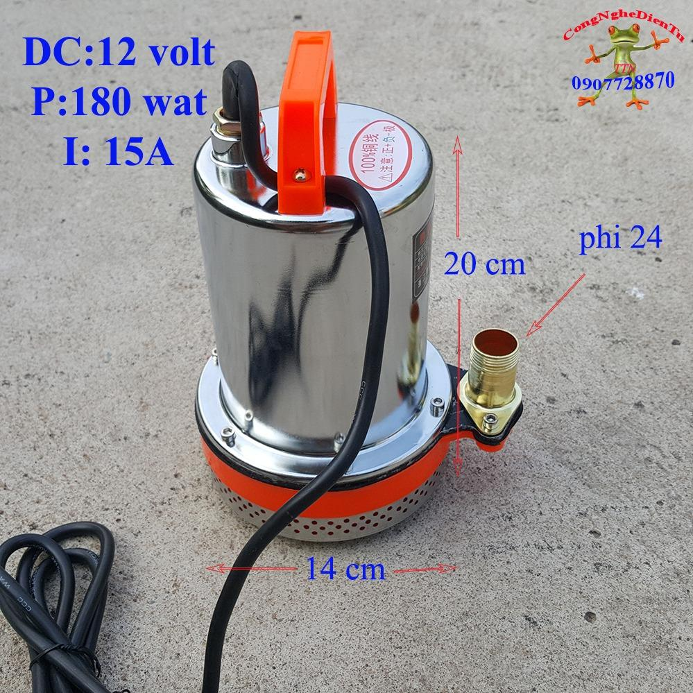 Hình ảnh Máy bơm nước chìm 12 volt - 180 wat 6 khối giờ