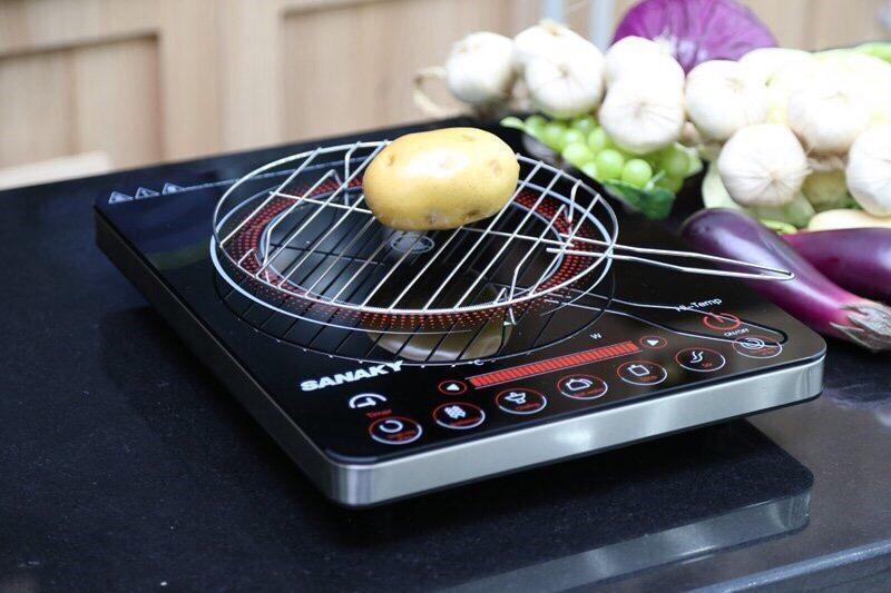 Hình ảnh Bếp hồng ngoại cảm ứng Sanaky AT-01HGN tặng kèm vĩ nướng