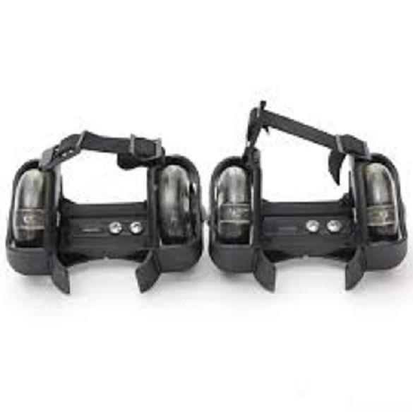 Bánh trượt patin 2 bánh phát sáng- Flashing Roller ( đen)