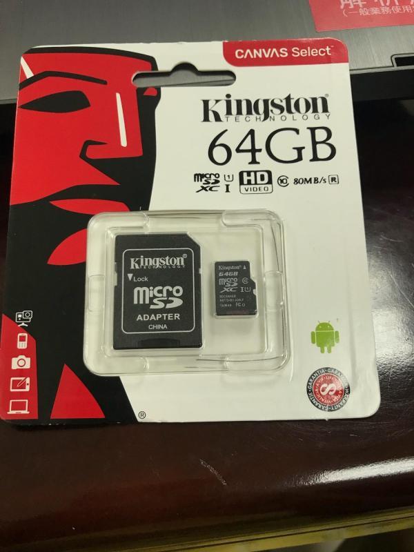 Thẻ nhớ 64GB Micro SDHC Kingston Class 10 UHS-I 80MB/s + Adapter - Bảo hành 5 năm