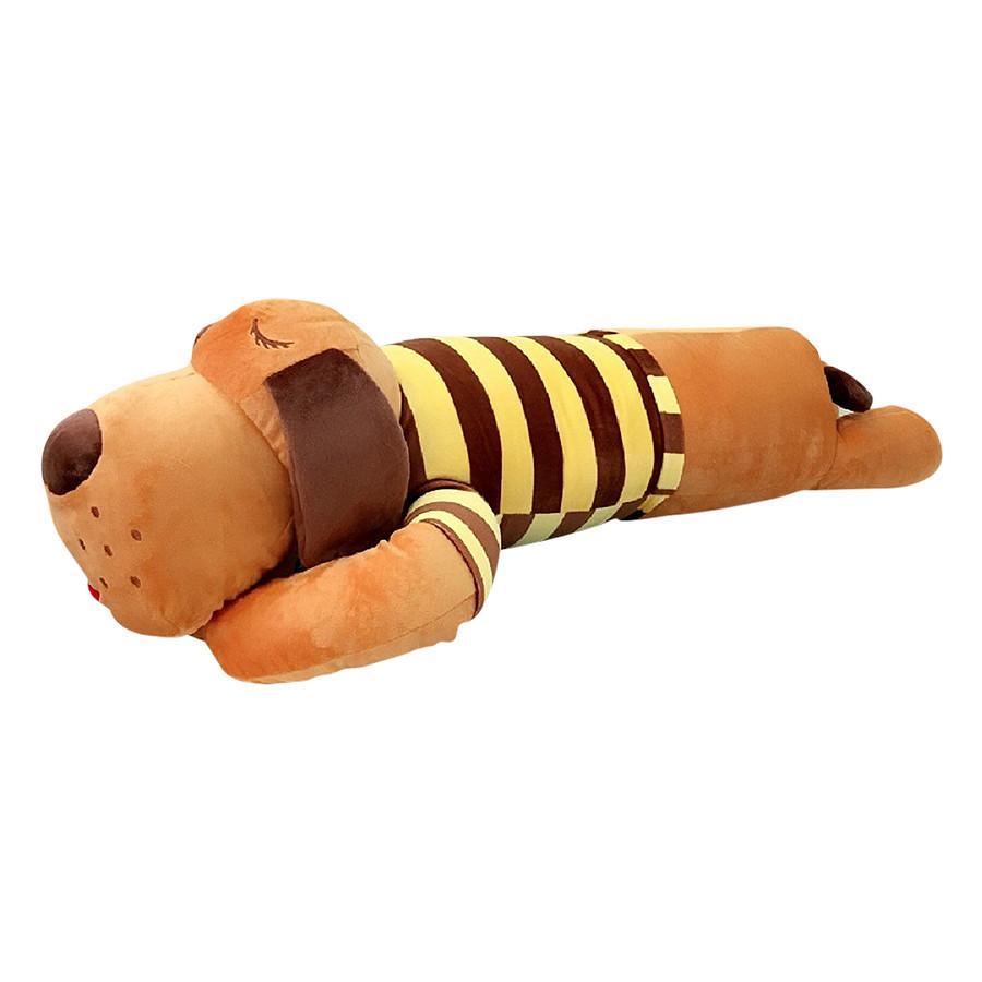 Hình ảnh Gối ôm chó bông mặc áo kẻ sọc dài 1m