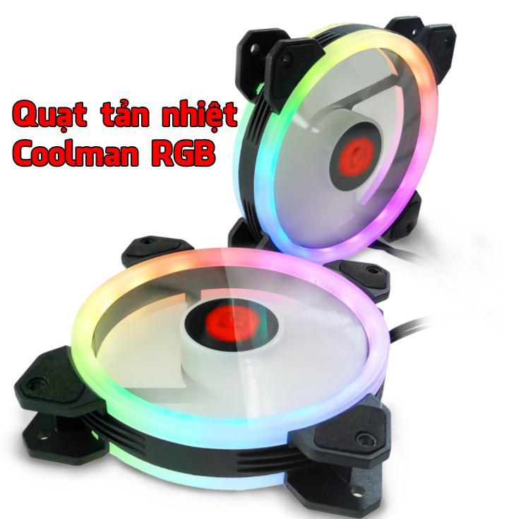 Hình ảnh [Combo Fan+Khiển] Quạt tản nhiệt Led RGB gaming.