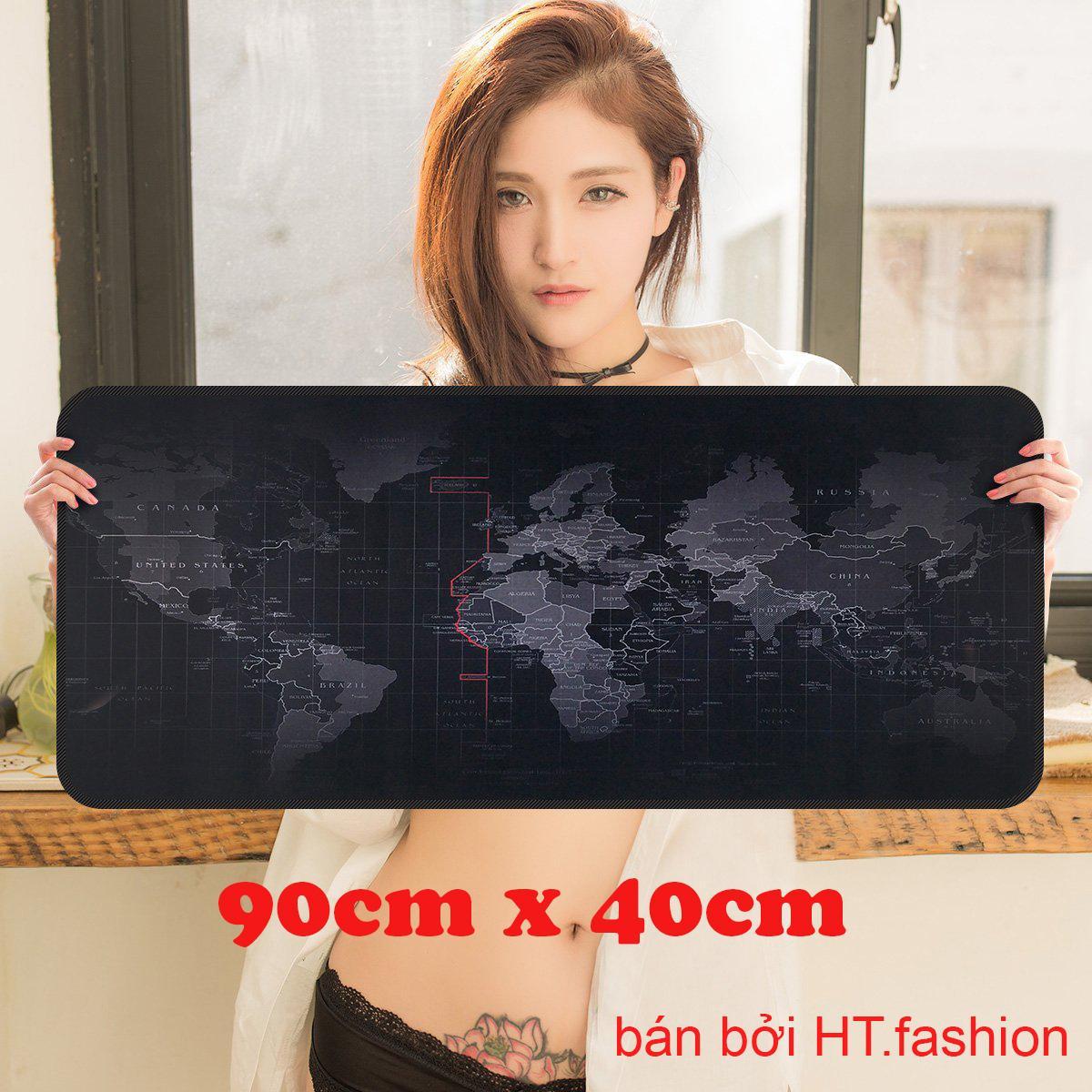HT.fashion - Bàn di chuột bản đồ (pad bản đồ) khổ lớn 90 x 40cm