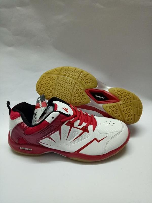 Giày cầu lông Kawasaki (màu Đỏ-trắng) ảnh thật sản phẩm