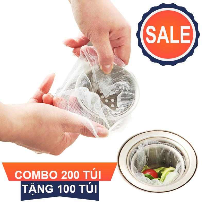 Hình ảnh Combo 200 Túi Tặng 100 Túi. Lưới lọc rác