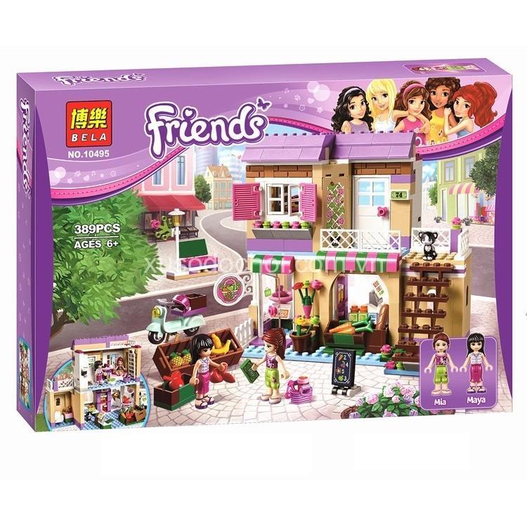 (Tặng xếp hình gỗ 10k) Lego friends 389pcs- Cửa hàng thực phẩm 10495