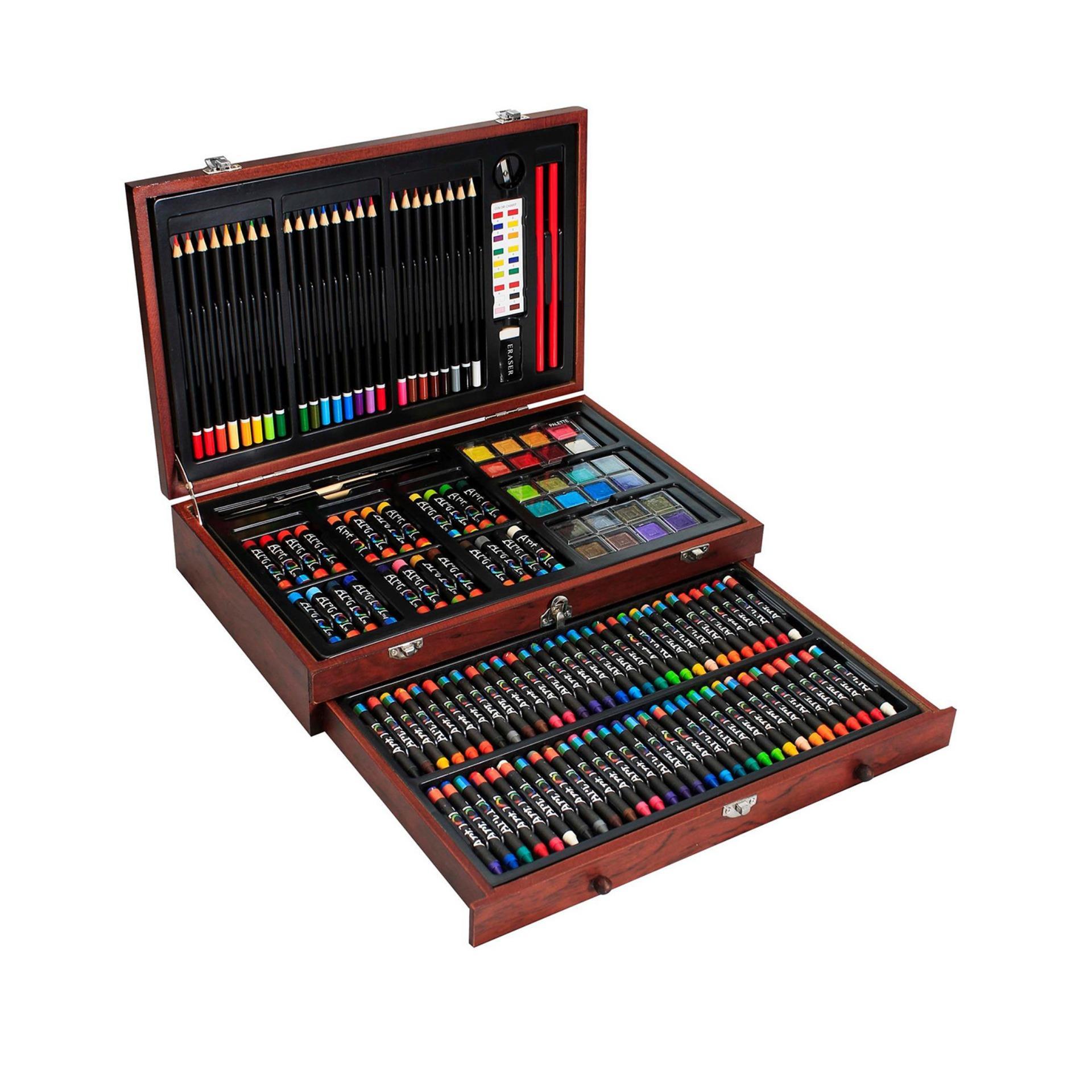 Bộ Màu Vẽ Cao Cấp Hộp Gỗ Colormate MS-142W Siêu Tiết Kiệm