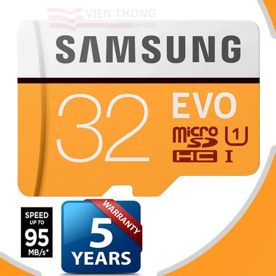 Chiết Khấu Sản Phẩm Thẻ Nhớ 32Gb Samsung Evo Microsdhc Tốc Độ Cao Up To 95Mb S Cam Bảo Hanh 1 Đổi 1