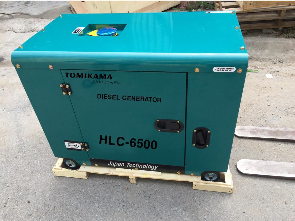 Máy Phát Điện Tomikama 5KW chạy dầu, vỏ chống ồn
